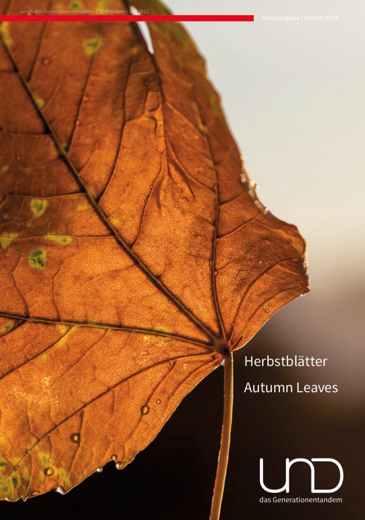 12. Ausgabe – Herbst 2015 | Schwerpunkt