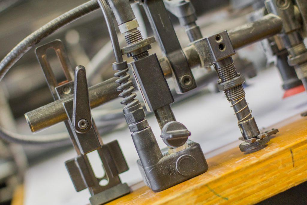 Eine Detailaufnahme aus der Druckerei.