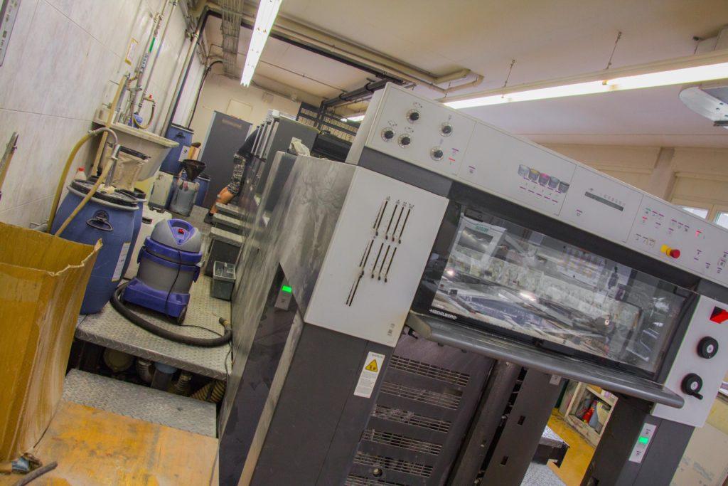 Durch diese moderne Druckmaschine laufen auch die Ausgaben von «und».