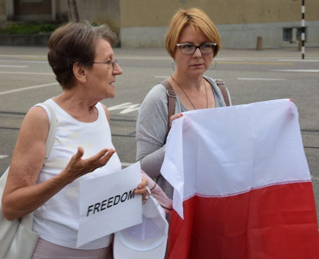 An der Demo in Bern auch dabei. Die Autorin dieses Artikels: Barbara Tschopp. – Bild: zvg